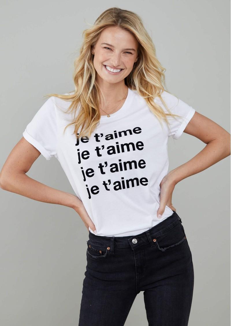 SOUTH PARADE Lola 'Je T'aime' T-Shirt - White main image