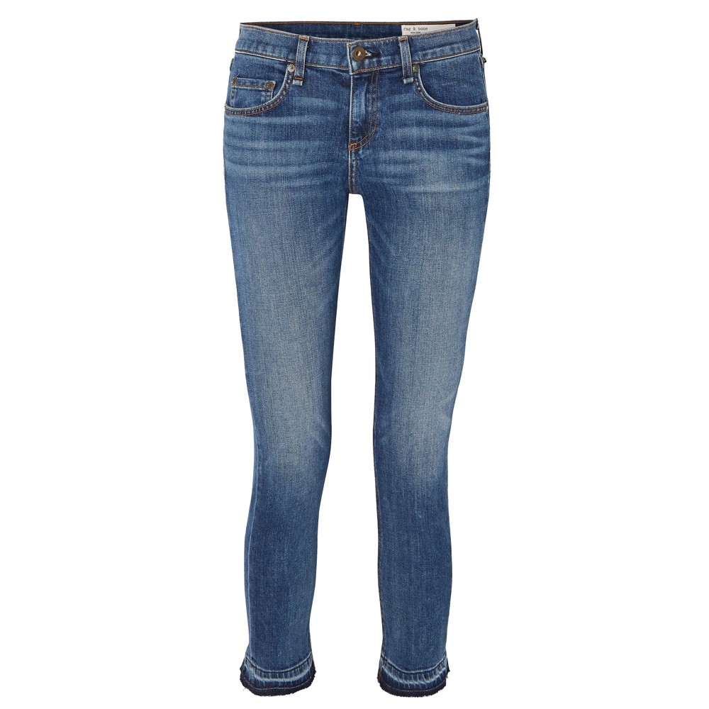 Dre Capri Mid Rise Boyfriend Jeans - Livingston
