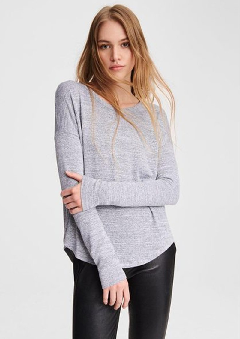 The Knit Long Sleeve T-Shirt - Light Grey main image