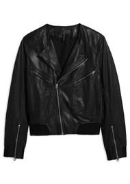 RAG & BONE Flight Leather Bomber Jacket - Black
