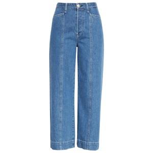 Maya High Waisted Ankle Wide Leg Jeans - Bluegrass
