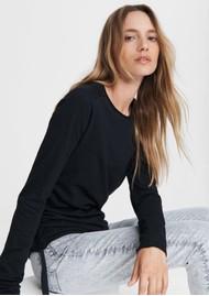 RAG & BONE Gisella Jersey Cotton Pullover - Black
