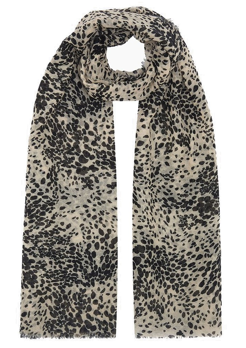 Lily and Lionel Painted Leopard Cashmere Scarf - Caramel main image