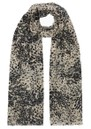 Lily and Lionel Painted Leopard Cashmere Scarf - Caramel