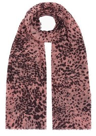 Lily and Lionel Painted Leopard Cashmere Scarf - Pink