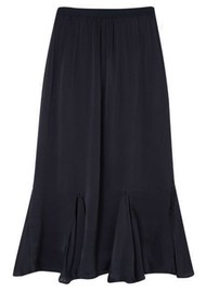 Lily and Lionel Ford Silk Satin Skirt - Black