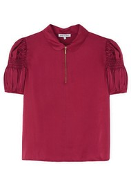 Lily and Lionel Amelia Silk Satin Top - Cranberry