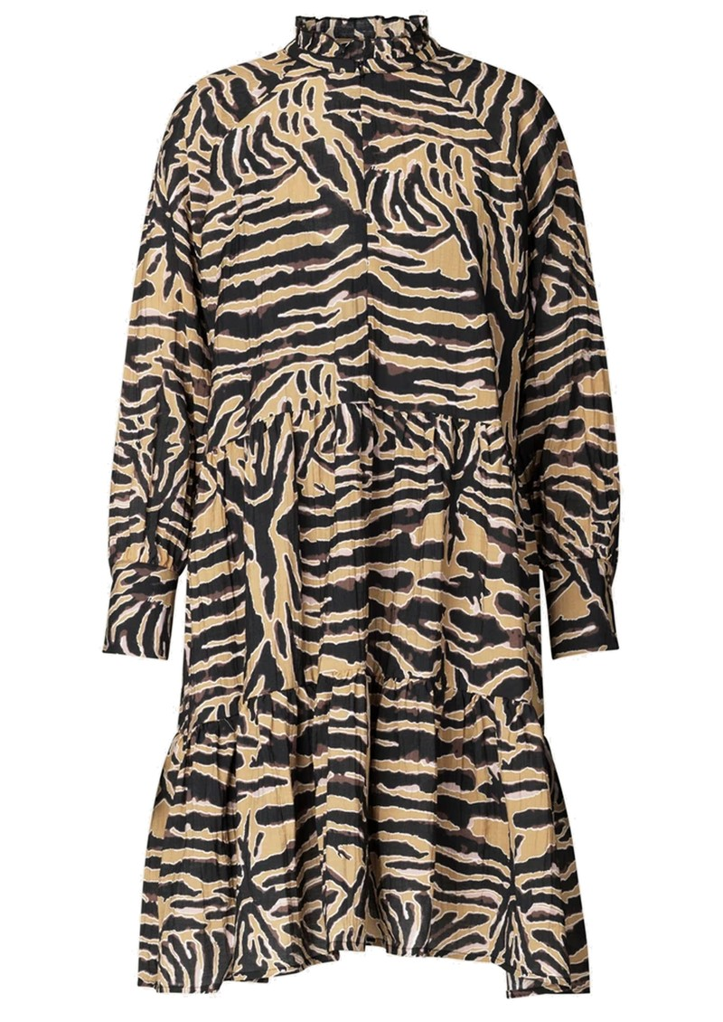 SECOND FEMALE Zebraly Dress - Bistre main image