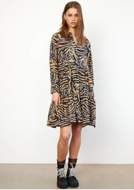 SECOND FEMALE Zebraly Dress - Bistre