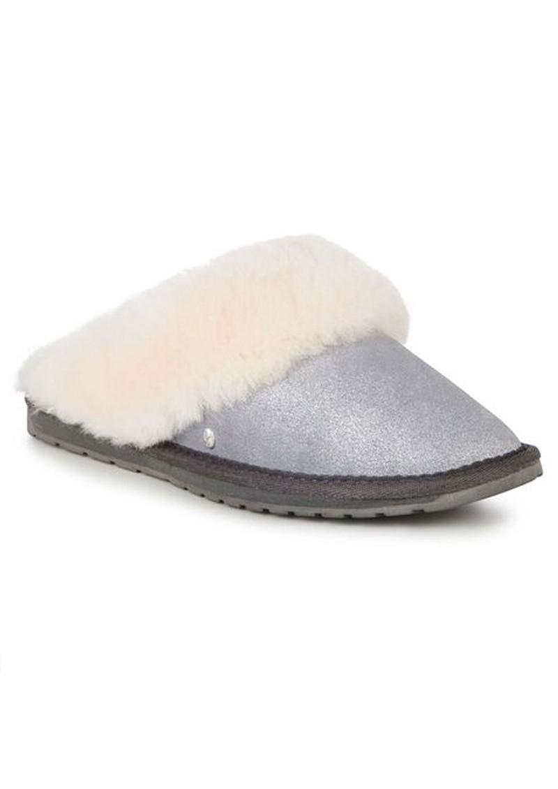 EMU Jolie Metallic Sheepskin Slippers - Charcoal main image