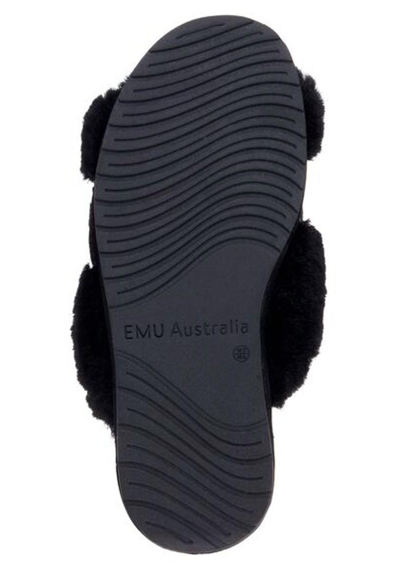 EMU Elphick Animal Sheepskin Slippers - Black main image
