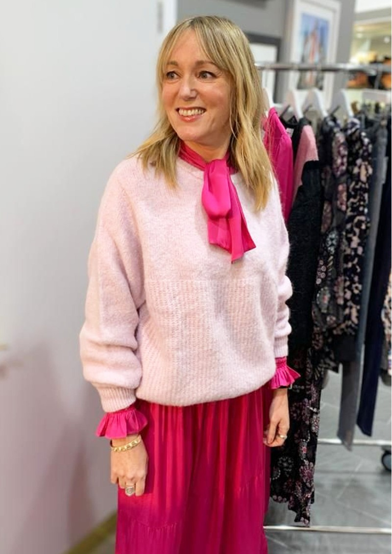 DEA KUDIBAL Ellie Silk Dress - Pink main image