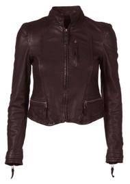 MDK Rucy Leather Jacket - Wine