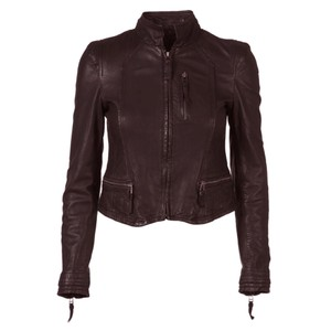 Rucy Leather Jacket - Wine