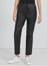 J Brand Amari Pull On Leather Pants - Black