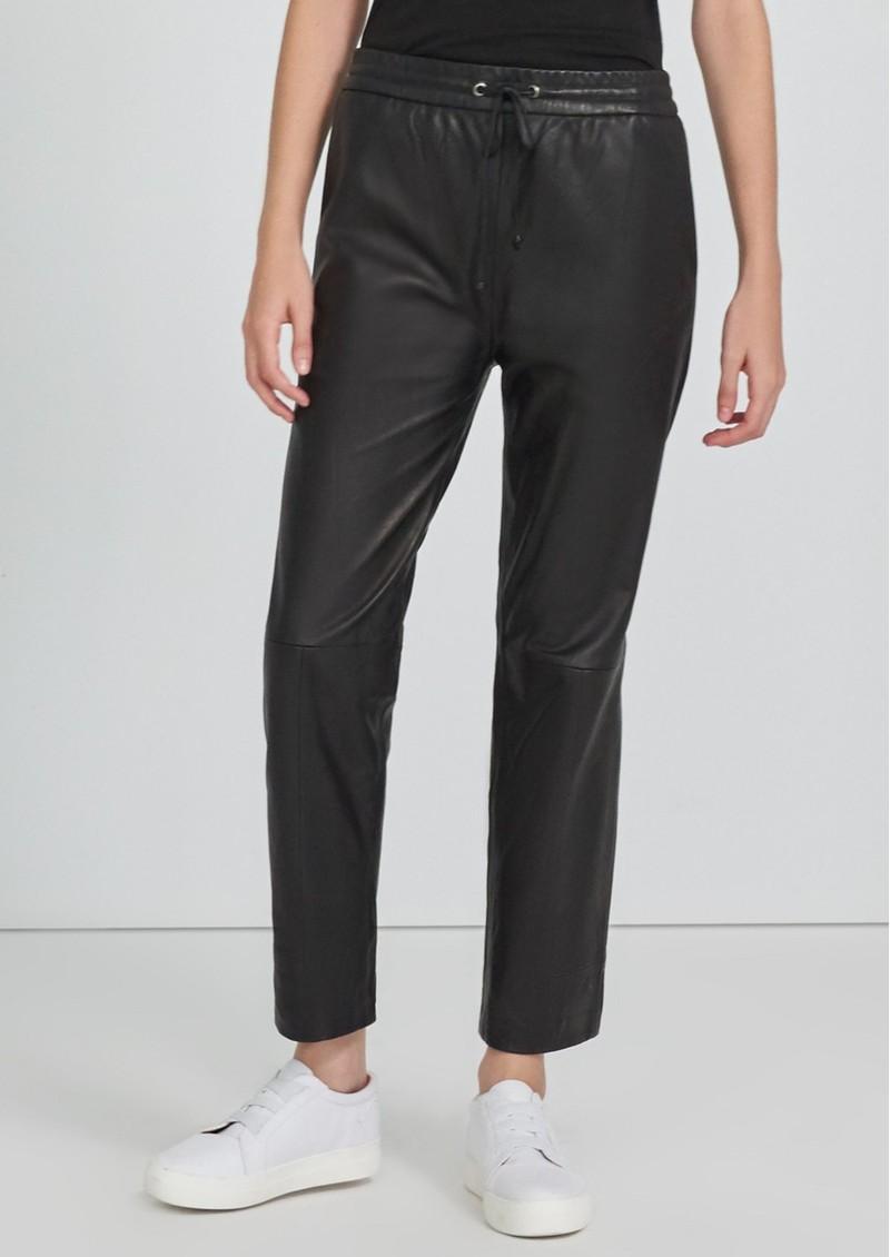 J Brand Amari Pull On Leather Pants - Black main image