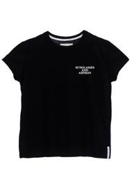 DONT TELL MAMA Sunglasses & Asprin T-Shirt - Black