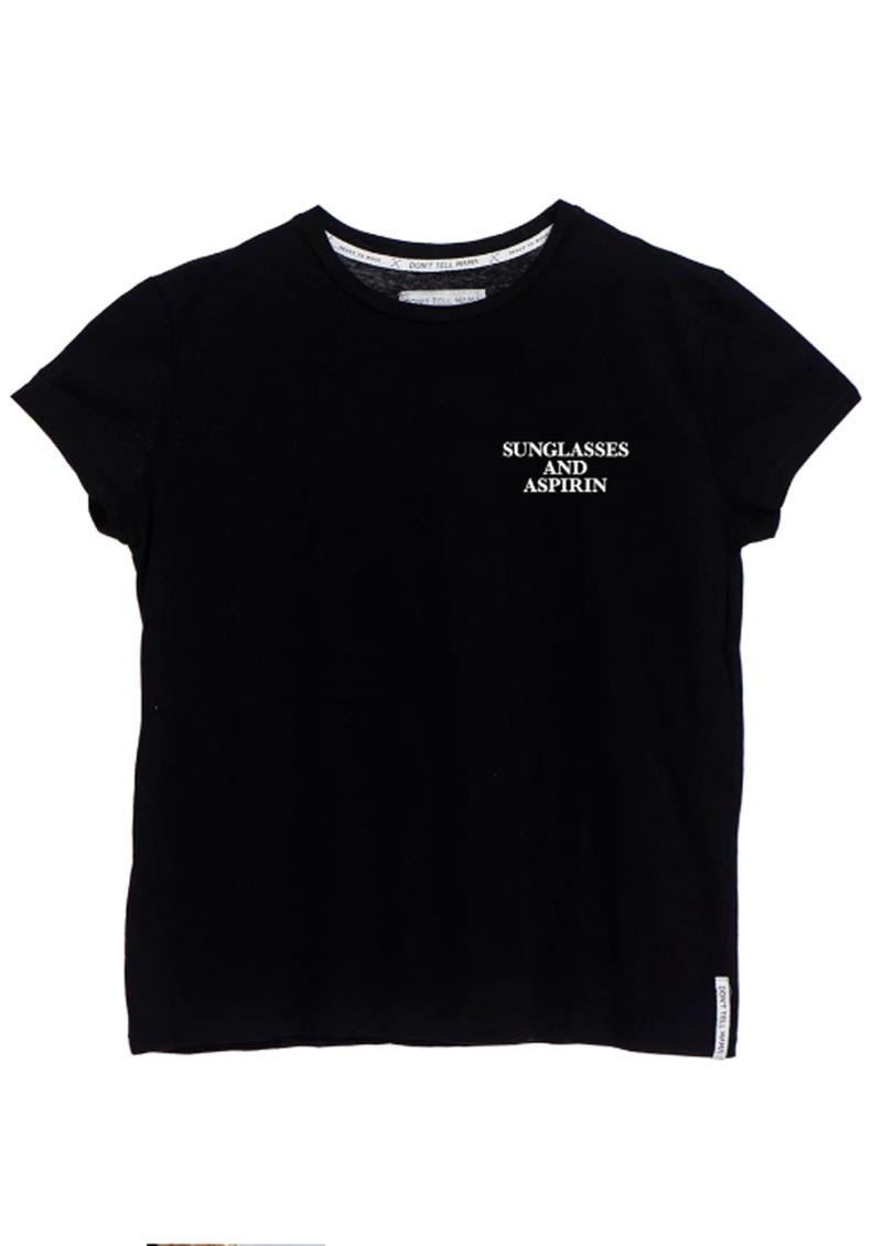 DONT TELL MAMA Sunglasses & Asprin T-Shirt - Black main image