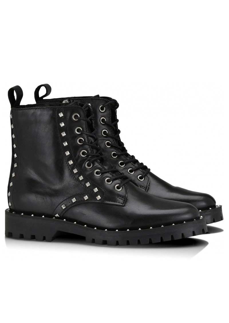 SHOE BIZ COPENHAGEN Naella Studded Leather Boots - Black main image