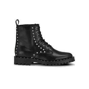 Naella Studded Leather Boots - Black