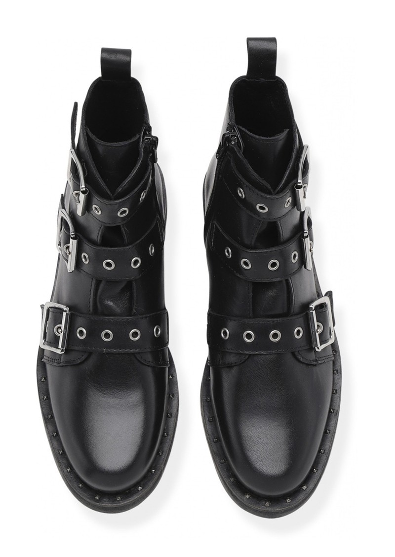 SHOE BIZ COPENHAGEN Nubris Leather Buckle Boots - Black main image