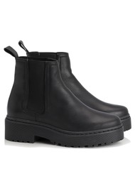SHOE BIZ COPENHAGEN Belize Leather Chelsea Boots - Black