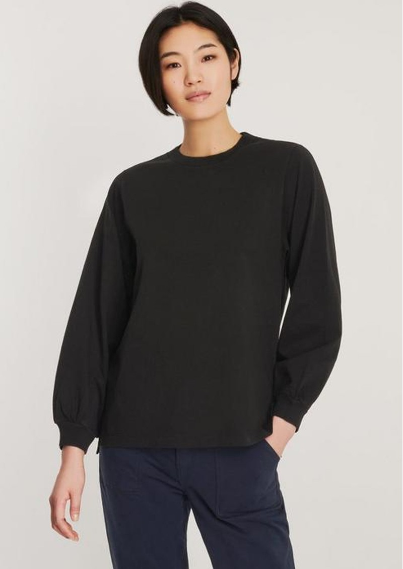 J Brand Erma Relaxed Long Sleeve Tee - Black main image