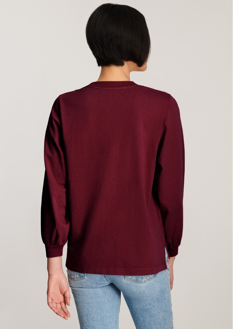J Brand Erma Relaxed Long Sleeve Tee - Courant main image