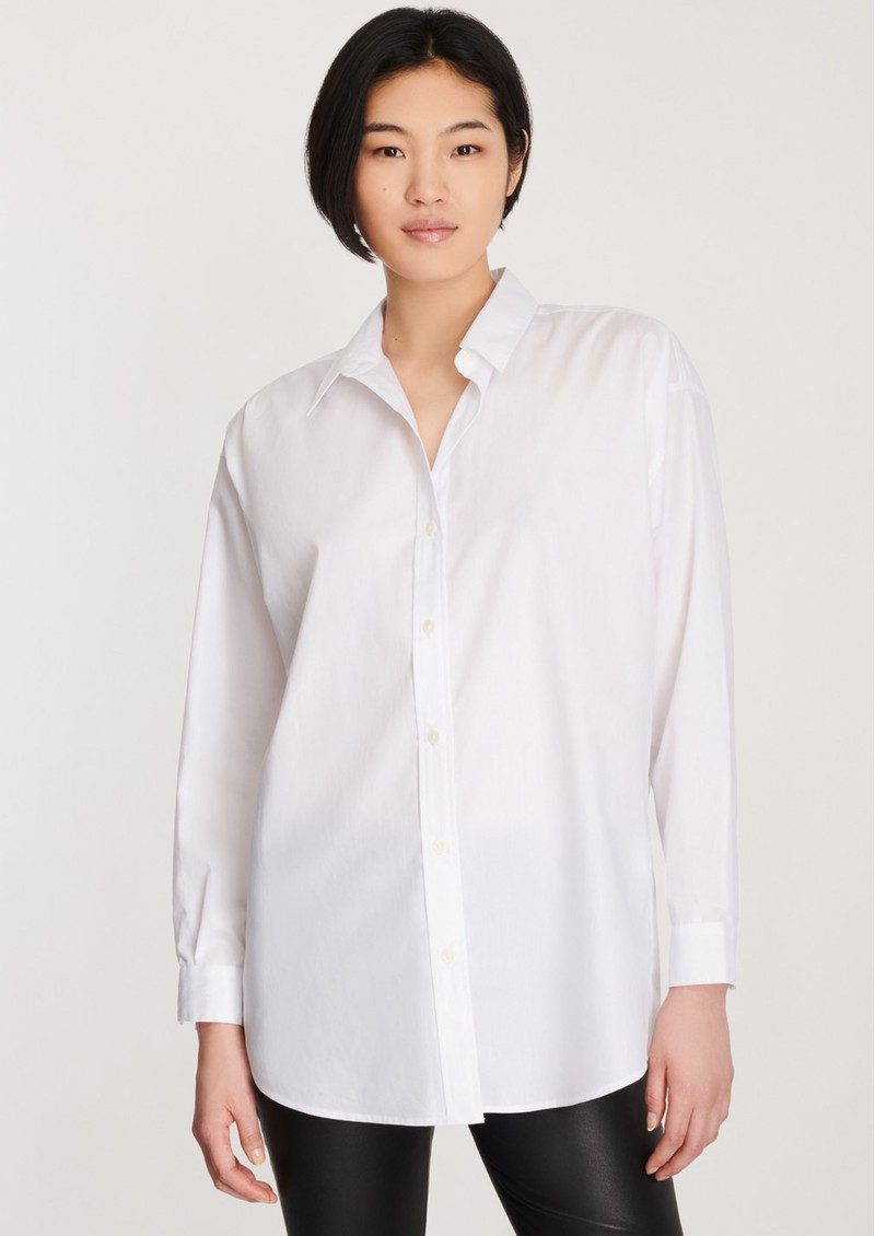Palmer Relaxed Cotton Shirt - White main image