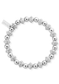 ChloBo Fearless Bead Bracelet - Silver