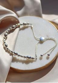 ChloBo Sparkle Oval Adjuster Bracelet - Silver