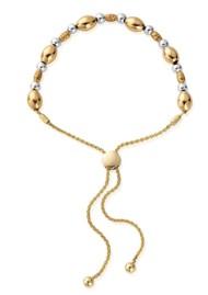 ChloBo Sparkle Oval Adjuster Bracelet - Gold & Silver