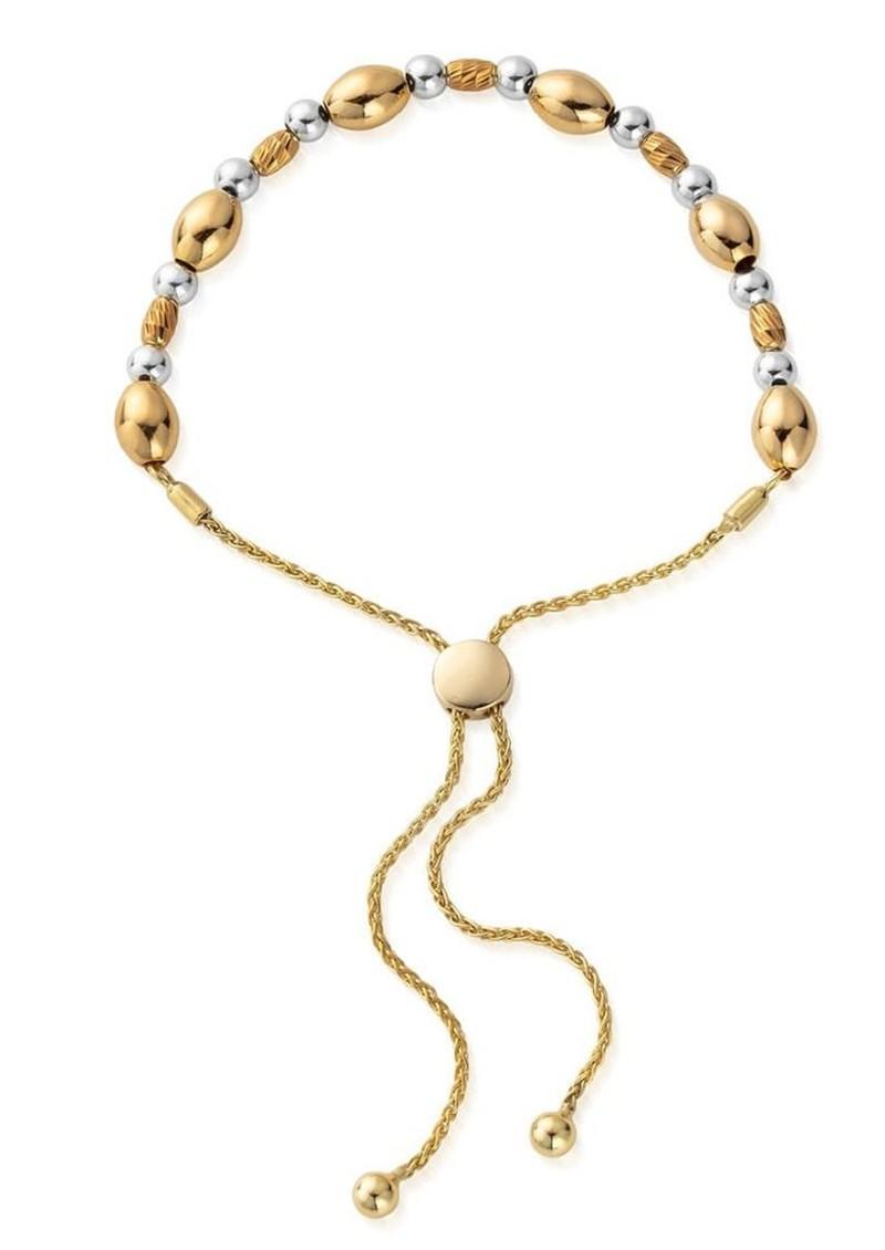 ChloBo Sparkle Oval Adjuster Bracelet - Gold & Silver main image