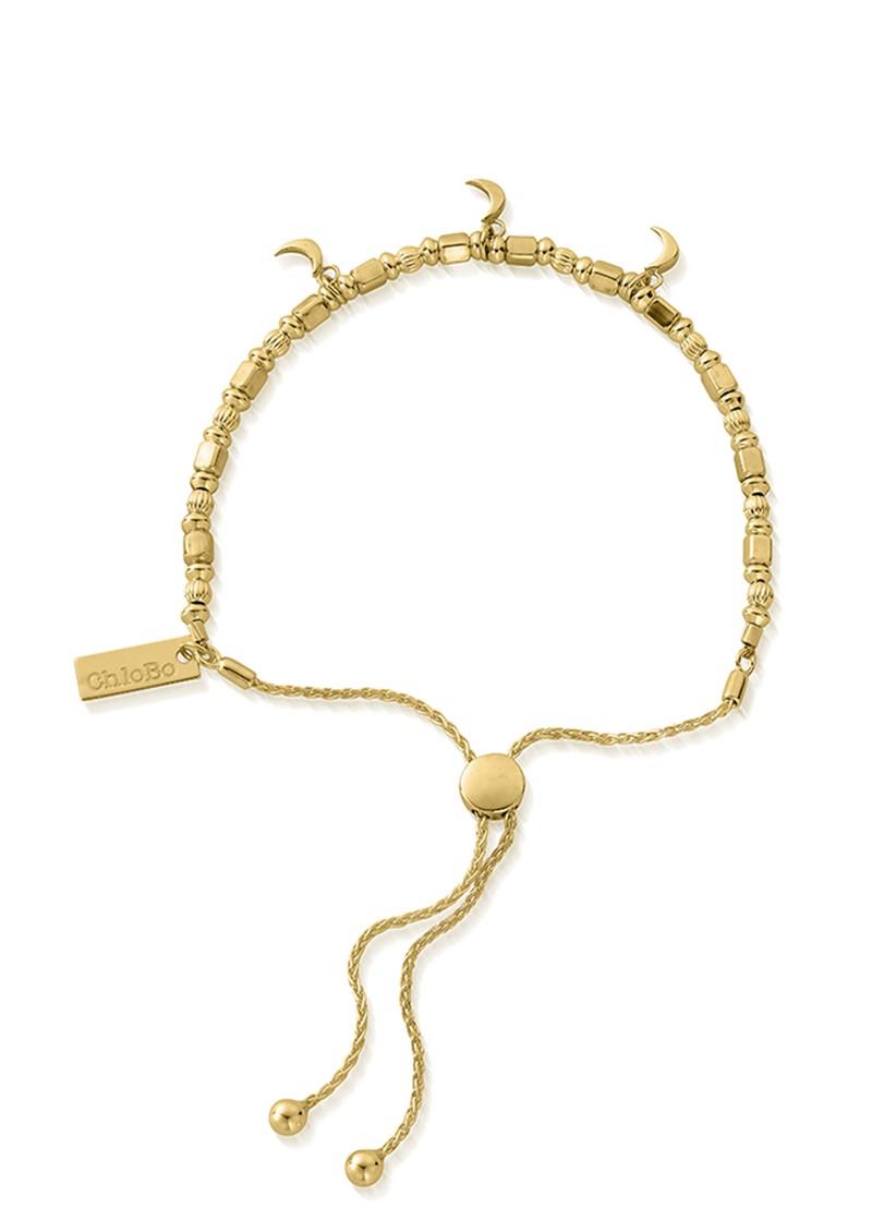 ChloBo Triple Moon Adjuster Bracelet - Gold main image