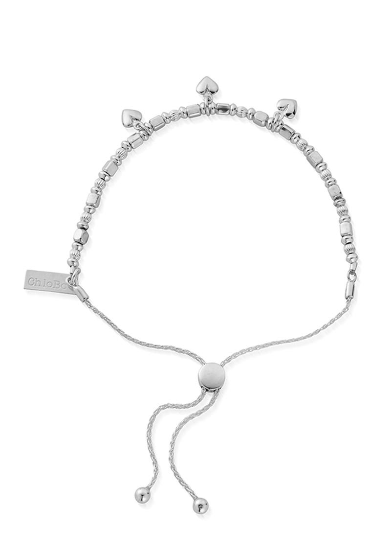 ChloBo Triple Heart Adjuster Bracelet - Silver main image