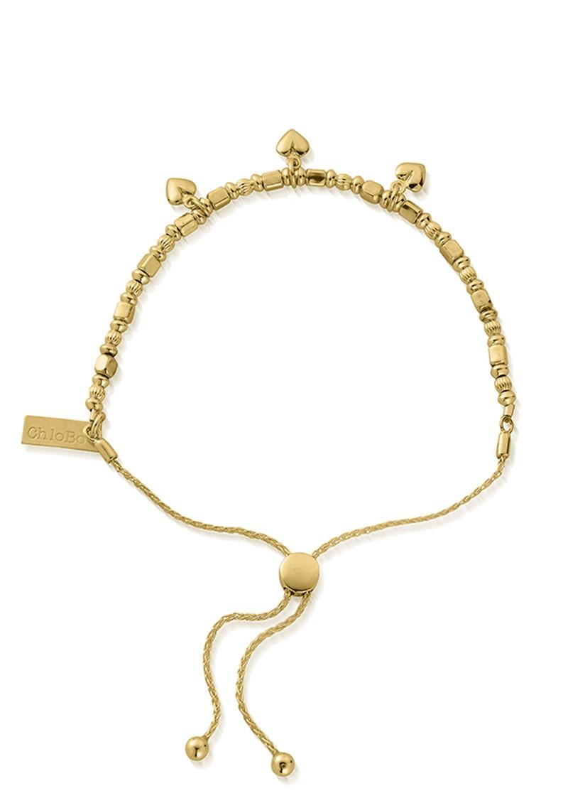 ChloBo Triple Heart Adjuster Bracelet - Gold main image