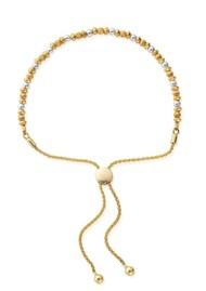 ChloBo Dainty Pumpkin Adjuster Bracelet - Gold & Silver
