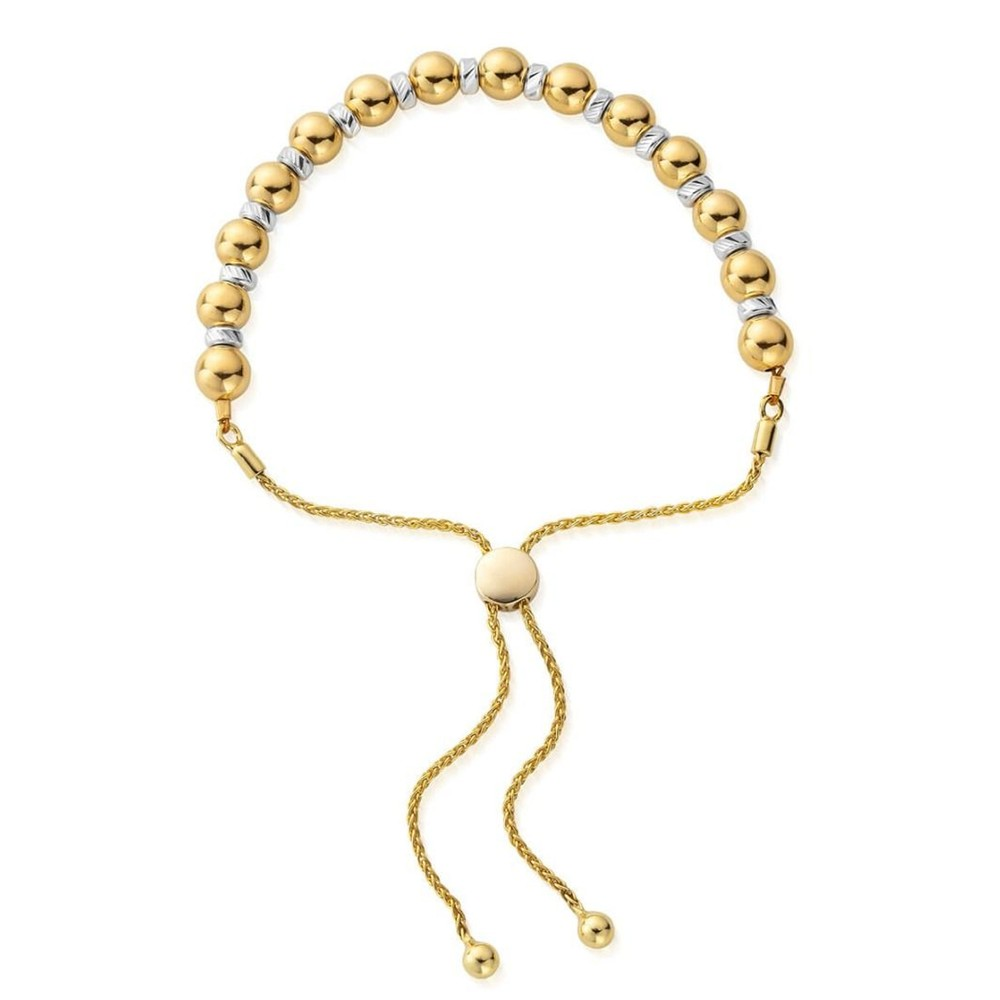 Sparkle Ball Adjuster Bracelet - Gold & Silver