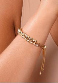 ChloBo Sparkle Ball Adjuster Bracelet - Gold & Silver