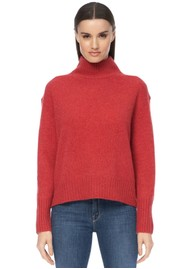 360 SWEATER Lyra Cashmere Turtleneck Jumper - Garnet