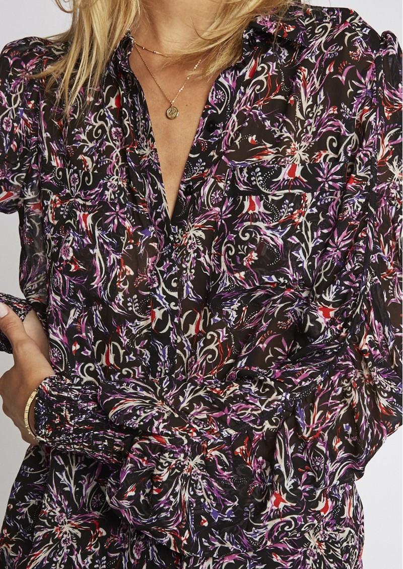 BERENICE Candy Printed Shirt - Black Palace main image