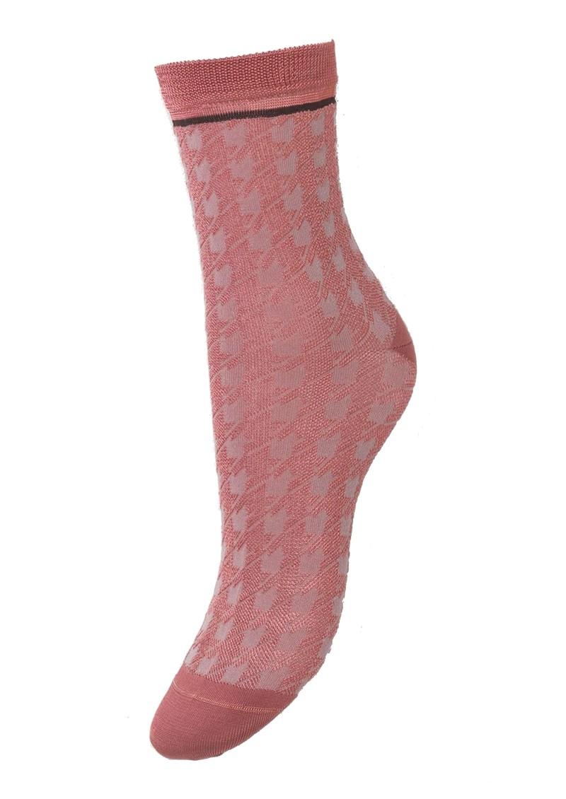 Becksondergaard Houndstooth Sora Socks - Dusty Cedar main image