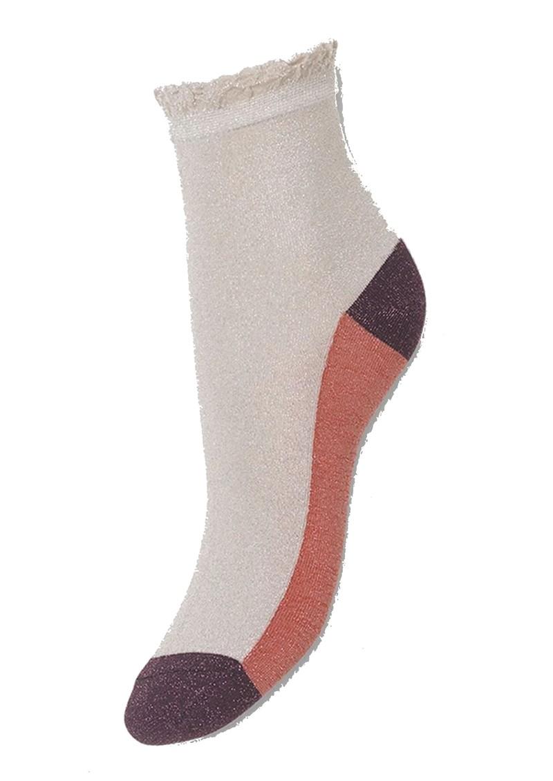 Becksondergaard Blocka Glam Socks - Silver Grey main image