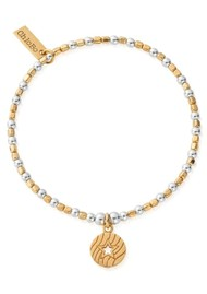 ChloBo Open Star In Circle Bracelet - Gold & Silver