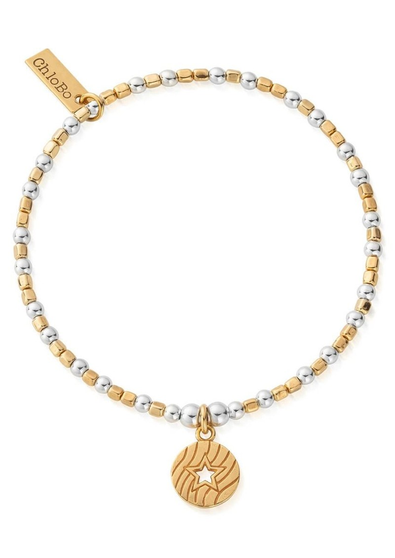 Open Star In Circle Bracelet - Gold & Silver main image