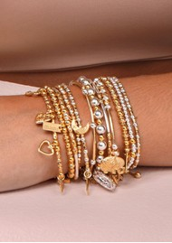 ChloBo Luna Moon Bracelet - Gold & Silver