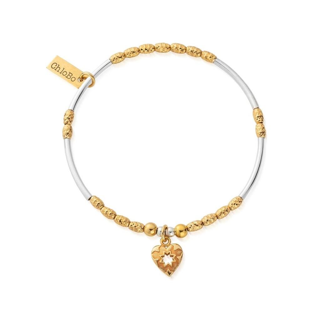 Star Heart Bracelet - Gold & Silver