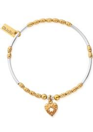 ChloBo Star Heart Bracelet - Gold & Silver