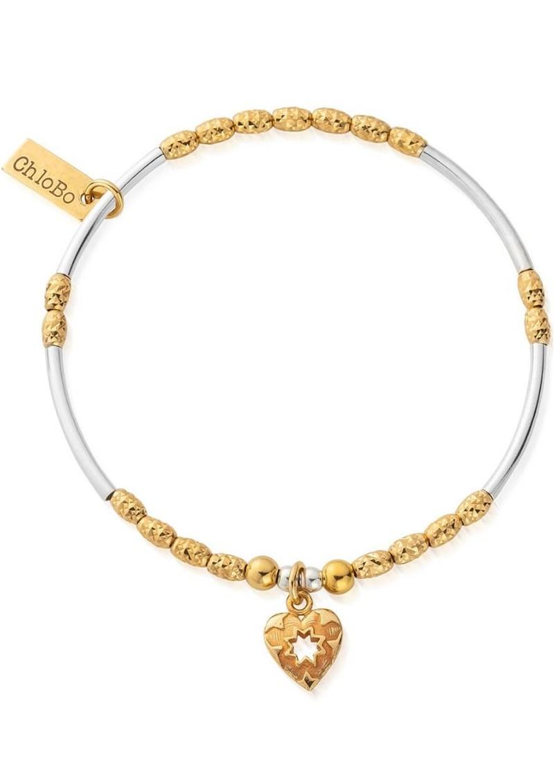 ChloBo Star Heart Bracelet - Gold & Silver main image
