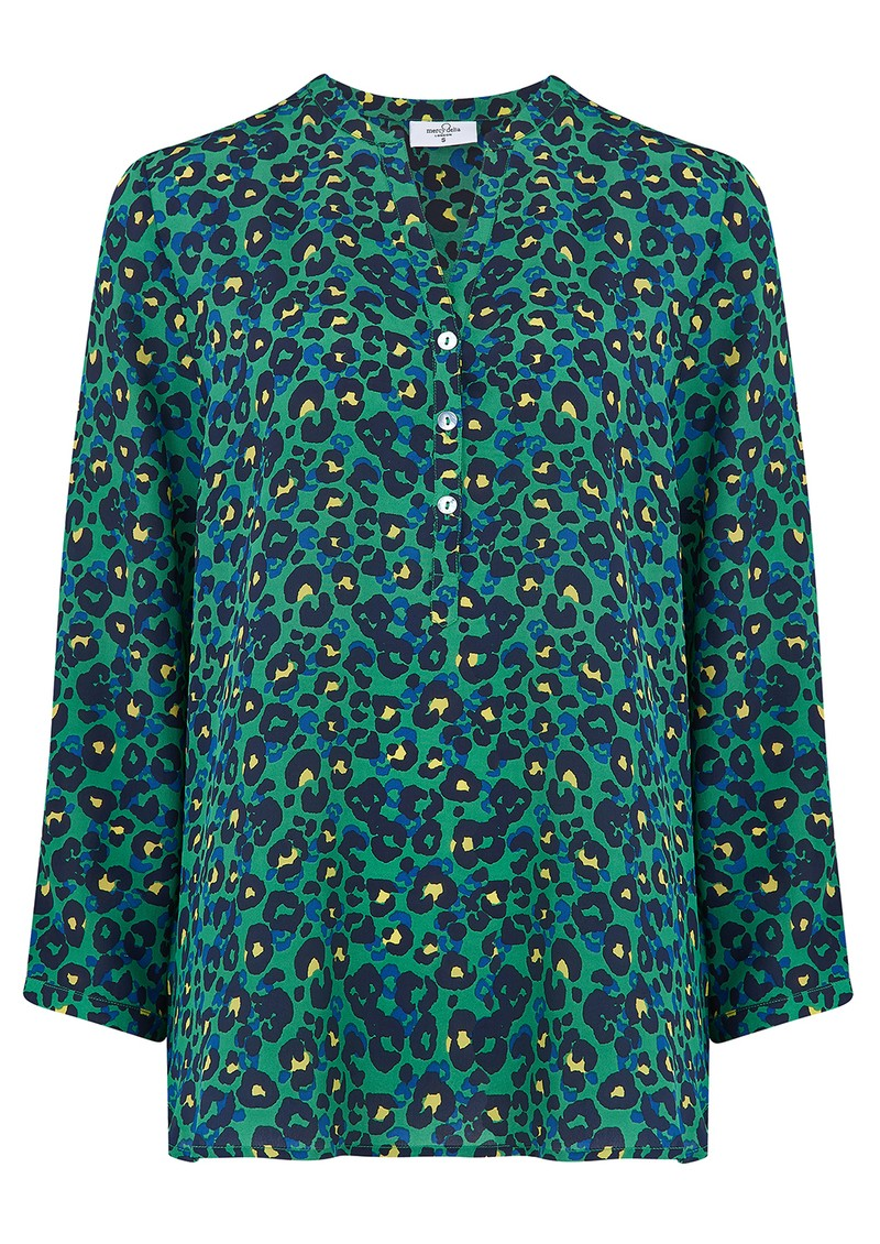 Mercy Delta Stanford Silk Blouse - Animal Electric main image